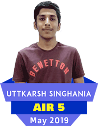 koncept education student utkarsh singhania got rank AIR-5