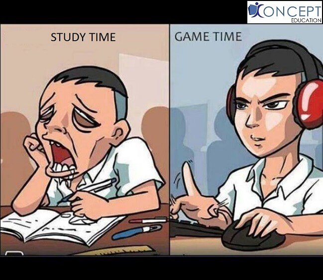 CHOICE BETWEEN STUDY AND PLAY